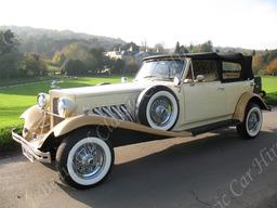 Beauford Classic Wedding Car Stanmer Park Brighton