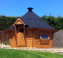 One of our customers BBQ Cabins on a lovely sunny day
