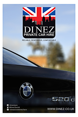 Taxi to The Hub Farnborough by Dinez Taxis