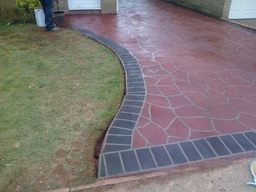 Finished in pattern concrete