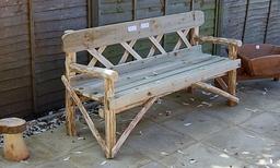 chestnut 5ft bench