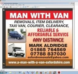 Man With Van Oxford