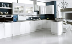 Ultra High Gloss White Kitchen