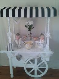 Wedding cart with popcorn