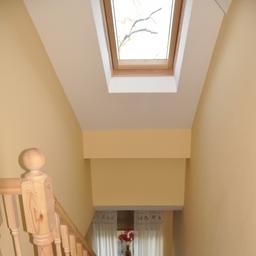 Tameside Loft Conversion - Stairwell To Loft With Velux Window Adding Light