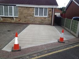 Concrete with slight tamp finish