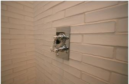 Tiles Shower - clay brick slips