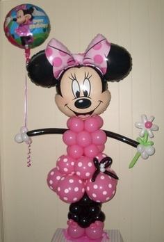 Mini mouse made from balloons, Micky also available