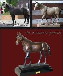 Bronze Horse Garden Ornament David Sharp