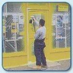 Shopfront spraying