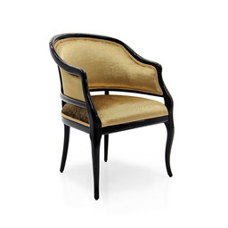SALON STYLE UPHOLSTERED TUB CHAIR