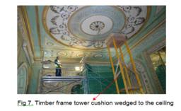 repair of a Robert Adam ceiling at inverary castle