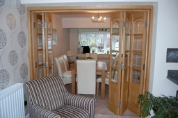 Norbury Internal Folding Sliding door set in White Oak