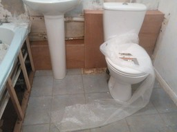 replacement/updated bathroom suite fitting
