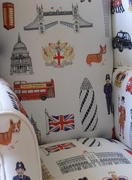 Childrens Chair - London Fabric