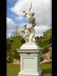 Classical Marble Statue Garden Ornaments Rape1