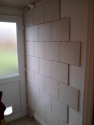 Tiling, wall and floors