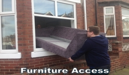 Can't get your furniture in? We can remove the glass and/or frame for easy access.