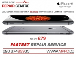 iPhone 6 LCD Screen Replaced with 15 mins by Professional Certified Technicians