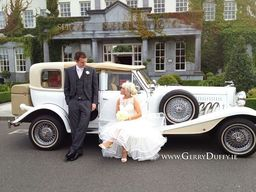beautiful Beauford vintage style wedding car- Limo