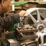 Wheels are computer lathe turned, taking the material to original manufacturers specification.
