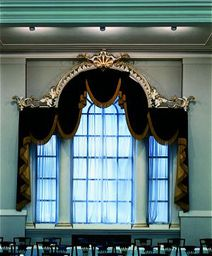 Bespoke Curtains and Swags and tails with trim