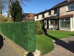 Maintenance Free Garden using Artificial Hedge