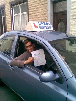 Nasir Passed his Driving Test