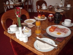 Enjoy a leisurely breakfast freshly prepared and cooked especially to your liking
