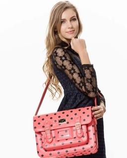Acess Wholesale Satchel Polka Dot On Model Laura
