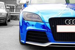 Audi TTRS Blue chrome wrap,vehicle wrapping,