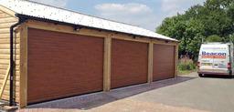 Slide roller garage doors