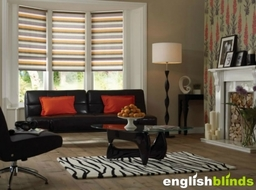 Striped Bay Window Blinds