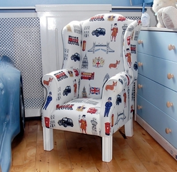 Childrens Armchair - London Fabric
