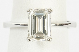 Emerald Cut Diamond Solitaire Ring - Buy, Sell, Exchange & Cash Loans Advanced