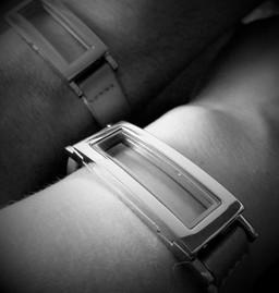 Leather Rectangle Floating Locket Bracelet