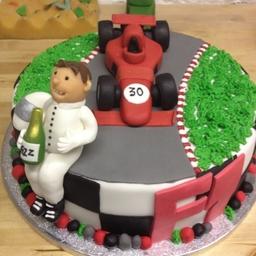F1 Racing Driver Cake