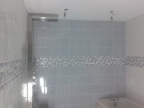 Bathroom fitted and tiled