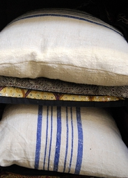 cushions with vintage French Fabric