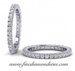 1carat Diamonds Full Eternity Wedding Ring in Platinum at Fine Diamonds R Us