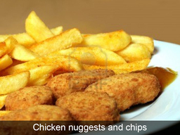 Chicken Nuggests and Chips