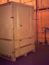 Home pack container storage, loaded at your door and safely stacked inside clean dry warehousing.