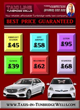 Tunbridge wells taxis number/prices