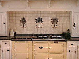 Kitchen Fired Earth Tree Panels