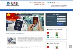 Unique Visa Services Website