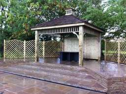 Custom made gazebo in Worcestershire by Wiltshire based Acer Paving & Landscaping