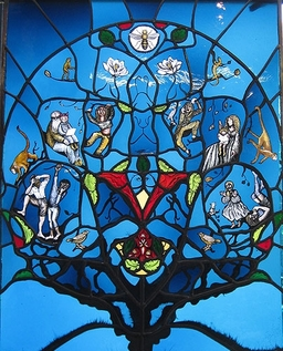 The Family Window designed by Artisan Stained Glass for The Chalmers Hospital, Edinburgh