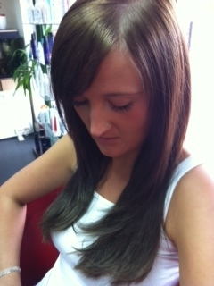 M hair after ( full head of extensions)