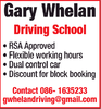 Gary Whelan Driving School
