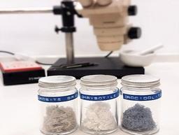 Asbestos fibres within a bulk fume cabinet